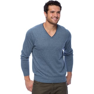 Cullen Men's Brushed Cotton V-neck Pull-over with Tipping https://ak1.ostkcdn.com/images/products/10100067/P17241242.jpg?impolicy=medium