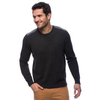 Cullen Men's Cashmere Shoulder Intasia Crew Shirt
