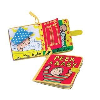Jellycat Soft Books, Peek A Baby Child's Story Book