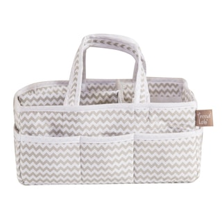 Trend Lab Dove Gray Chevron Storage Caddy
