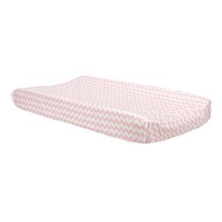 Trend Lab Pink Sky Chevron Changing Pad Cover