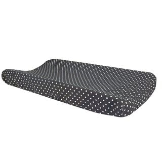 Trend Lab Bedtime Gray Dot Changing Pad Cover