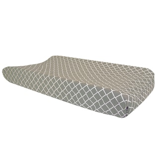 Trend Lab Paloma Gray Diamond Changing Pad Cover