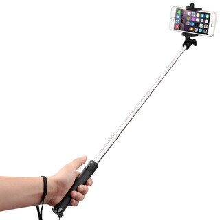 Mpow iSnap X 1-piece U-shape Self-portrait Monopod Extendable Selfie Stick with built-in Bluetooth Shutter for Smartphones (Option: Black)