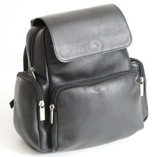 Royce Leather Colombian Vaquetta Cowhide Backpack