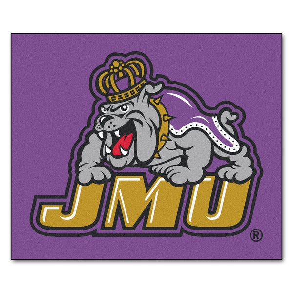 Fanmats Machine-Made James Madison University Purple Nylon Tailgater Mat (5' x 6')