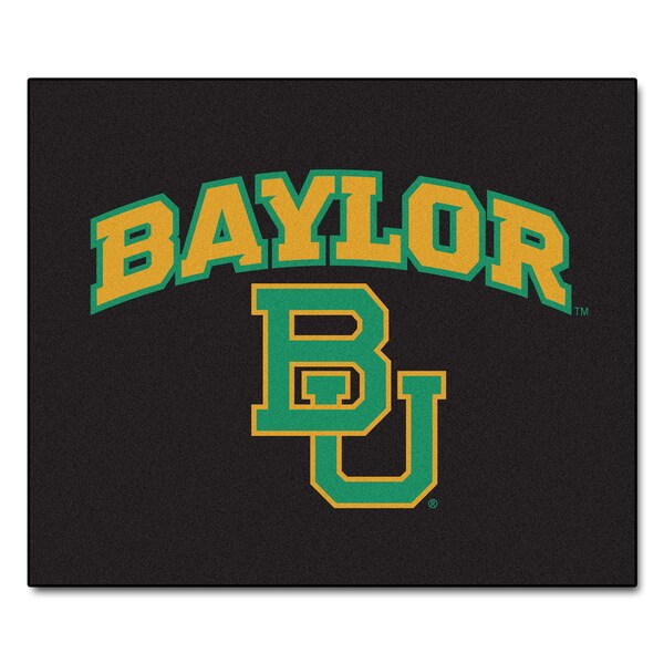 Fanmats Machine-Made Baylor University Black Nylon Tailgater Mat (5' x 6')