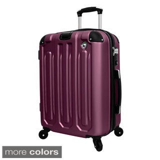 Mia Toro Regale 26-inch Lightweight Hardside Expandable Spinner Upright Suitcase