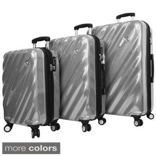 Mia Toro ITALY Onda Fusion Lightweight Hardside 3-piece Spinner Luggage Set