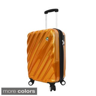 Mia Toro ITALY Onda Fusion 20-inch Lightweight Hardside Expandable Carry On Spinner Suitcase