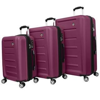 Deals on Mia Toro ITALY Moderno Lightweight Hardside 3-piece Spinner Luggage Set