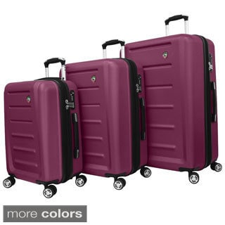 Mia Toro ITALY Moderno Lightweight Hardside 3-piece Spinner Luggage Set