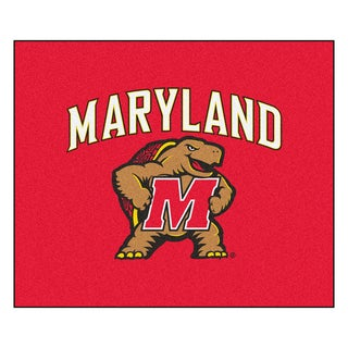 Fanmats Machine-Made University of Maryland Red Nylon Tailgater Mat (5' x 6')