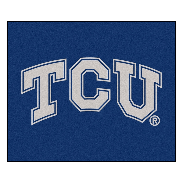 Fanmats Machine-Made Texas Christian University Blue Nylon Tailgater Mat (5' x 6')