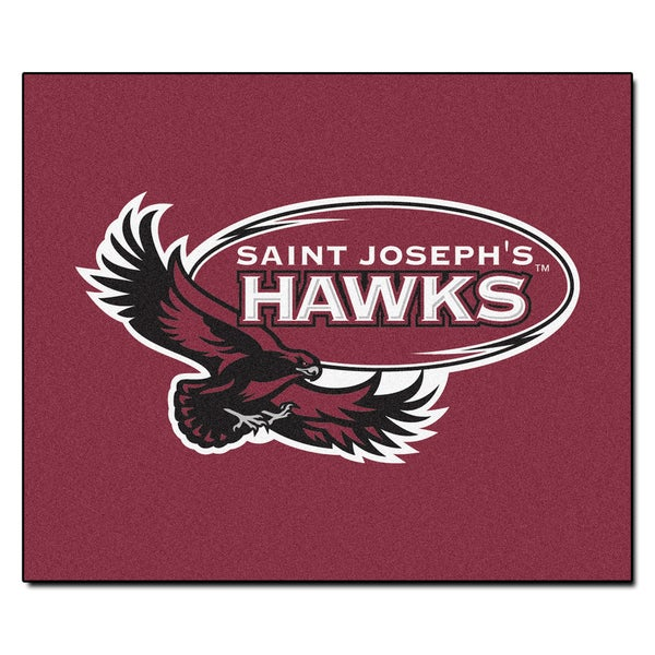 Fanmats Machine-Made St. Joseph's University Red Nylon Tailgater Mat (5' x 6')