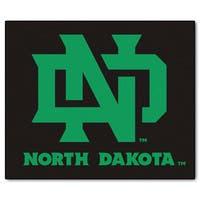 Fanmats Machine-Made University of North Dakota Black Nylon Tailgater Mat (5' x 6')
