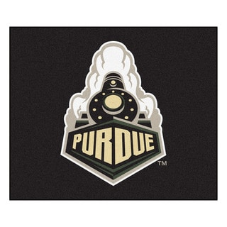 Fanmats Machine-Made Purdue University Black Nylon Tailgater Mat (5' x 6')