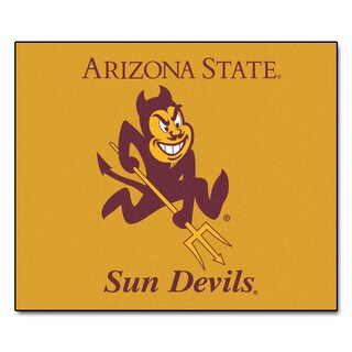 Fanmats Machine-Made Ariona State University Yellow Nylon Tailgater Mat (5' x 6')