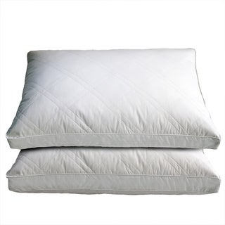 OSleep White Goose Feather and Down Pillows (Set of 2)