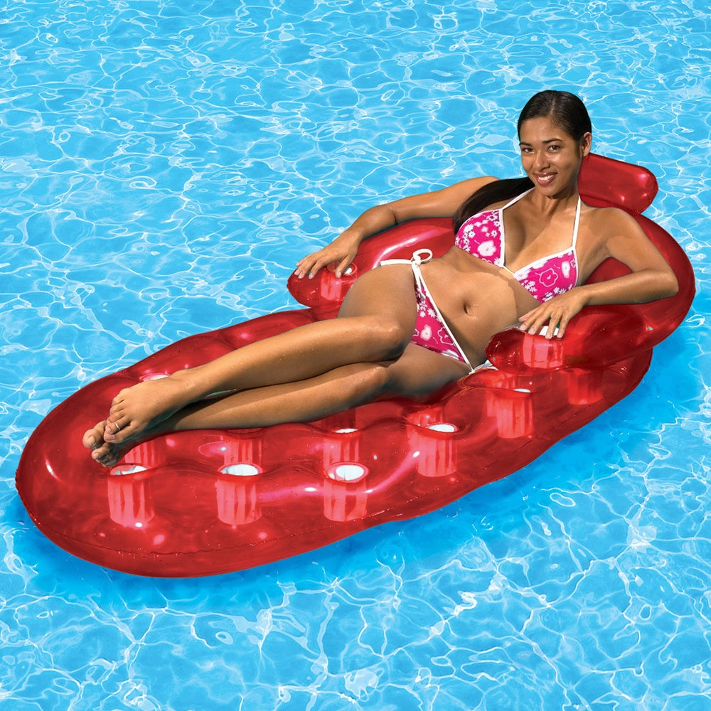 Poolmaster French Oval Pool Lounger (1 Red French Oval Po...