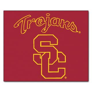 Fanmats Machine-Made University of Southern California Red Nylon Tailgater Mat (5' x 6')|https://ak1.ostkcdn.com/images/products/10100292/P17241473.jpg?impolicy=medium