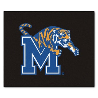 Fanmats Machine-Made University of Memphis Black Nylon Tailgater Mat (5' x 6')