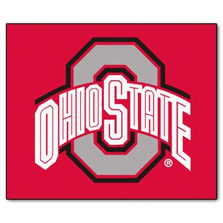 Fanmats Machine-Made Ohio State University Red Nylon Tailgater Mat (5' x 6')