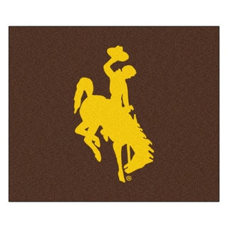 Fanmats Machine-Made University of Wyoming Brown Nylon Tailgater Mat (5' x 6')