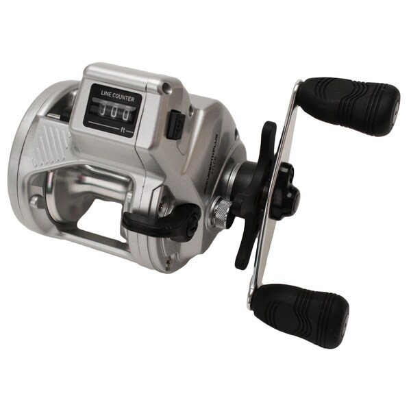 Accudepth Plus-B Line Counter Reel, Walleye Special w/Dual Paddle Handle, Heavy