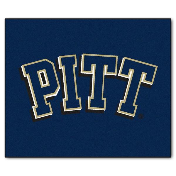 Fanmats Machine-Made University of Pittsburgh Blue Nylon Tailgater Mat (5' x 6')