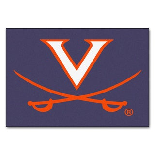 Fanmats Machine-Made University of Virginia Blue Nylon Tailgater Mat (5' x 6')