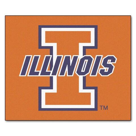 Fanmats Machine-Made University of Illinois Orange Nylon Tailgater Mat (5' x 6')