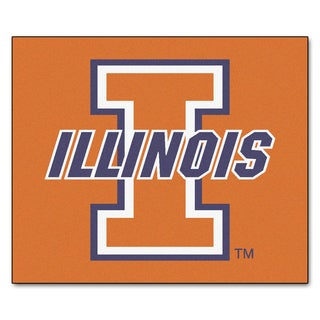 Fanmats Machine-Made University of Illinois Orange Nylon Tailgater Mat (5' x 6')