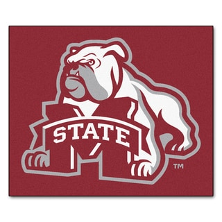 Fanmats Machine-Made Mississippi State University Burgundy Nylon Tailgater Mat (5' x 6')