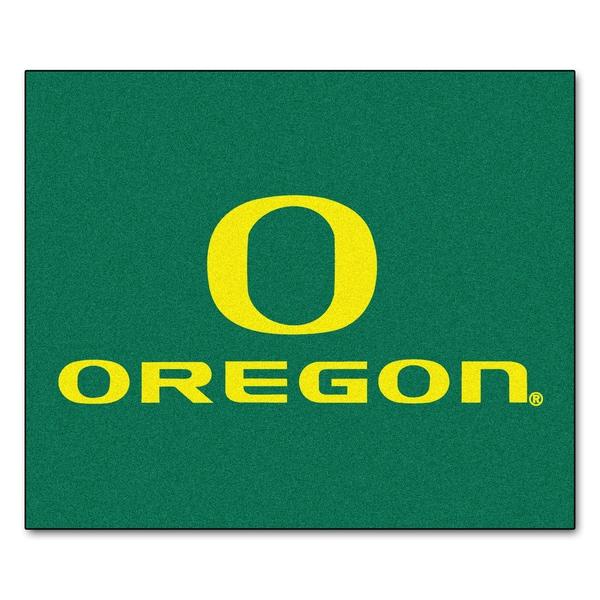 Fanmats Machine-Made University of Oregon Green Nylon Tailgater Mat (5' x 6')