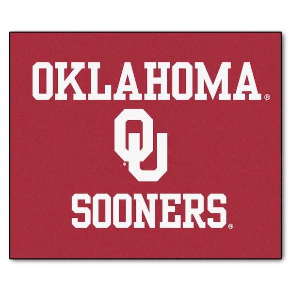 Fanmats Machine-Made University of Oklahoma Red Nylon Tailgater Mat (5' x 6')