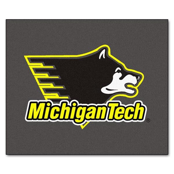 Fanmats Machine-Made Michigan Tech Grey Nylon Tailgater Mat (5' x 6')