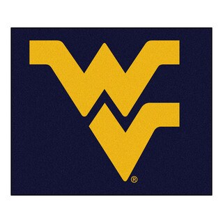 Fanmats Machine-Made West Virginia University Blue Nylon Tailgater Mat (5' x 6')