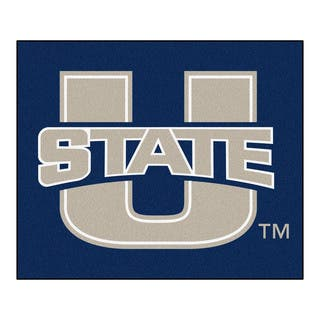 Fanmats Machine-Made Utah State University Blue Nylon Tailgater Mat (5' x 6')|https://ak1.ostkcdn.com/images/products/10100409/P17241609.jpg?impolicy=medium