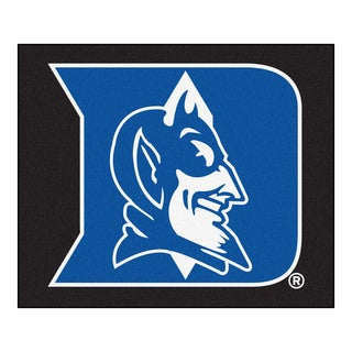 Fanmats Machine-Made Duke University Black Nylon Tailgater Mat (5' x 6')