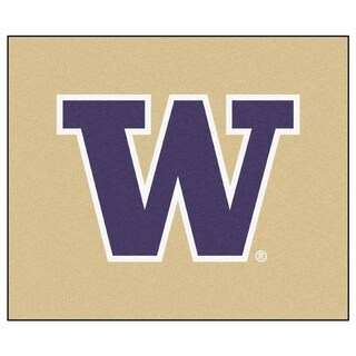 Fanmats Machine-Made University of Washington Tan Nylon Tailgater Mat (5' x 6')