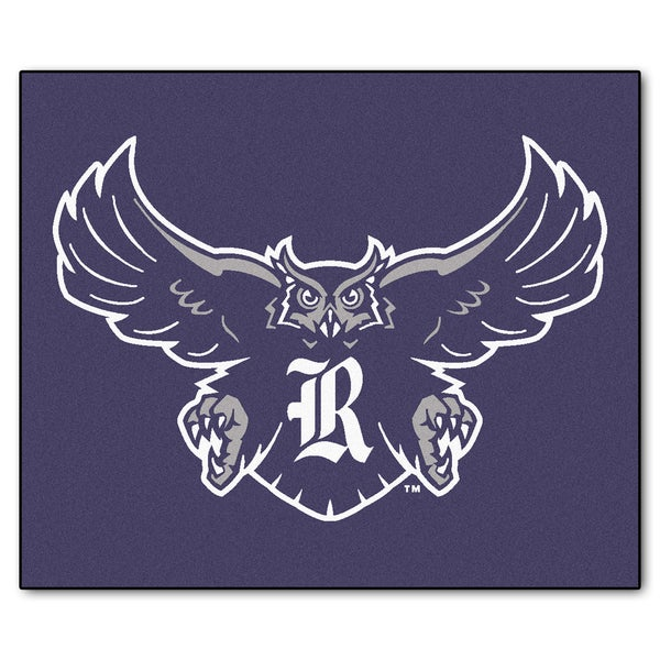 Fanmats Machine-Made Rice University Blue Nylon Tailgater Mat (5' x 6')