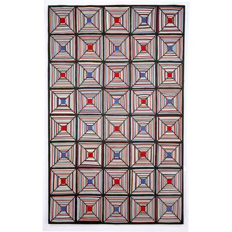 Liora Manne Cross Stitch Outdoor Rug (3'6X5'6) - 3'6 X 5'6