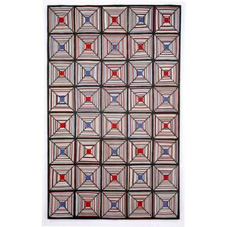Cross Stitch Outdoor Rug (3'6X5'6) - 3'6 X 5'6