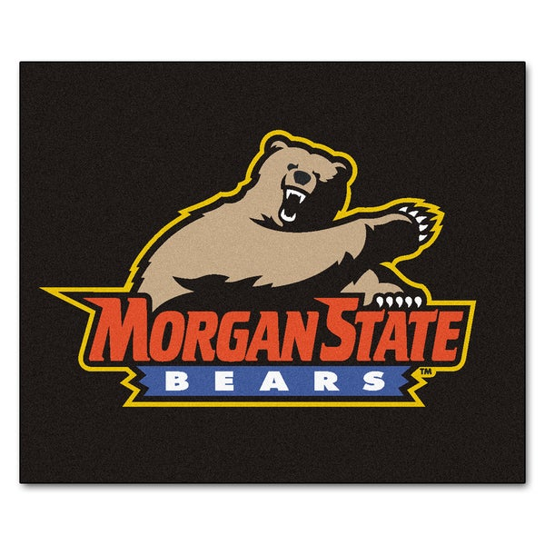 Fanmats Machine-Made Morgan State University Black Nylon Tailgater Mat (5' x 6')
