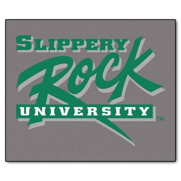 Fanmats Machine-Made Slippery Rock University Grey Nylon Tailgater Mat (5' x 6')