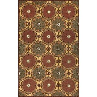 Ornamental Circles Outdoor Rug (5'X8')