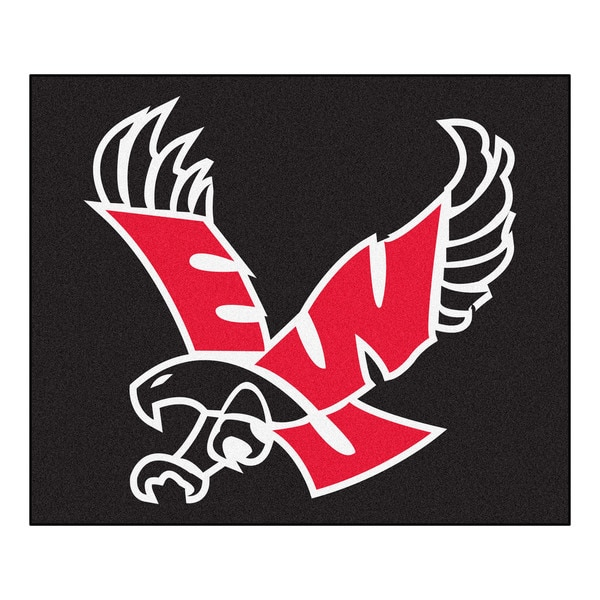 Fanmats Machine-Made Eastern Washington University Black Nylon Tailgater Mat (5' x 6')