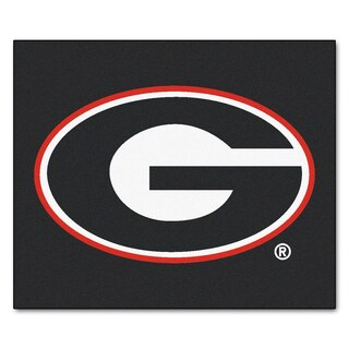 Fanmats Machine-Made University of Georgia Black Nylon Tailgater Mat (5' x 6')