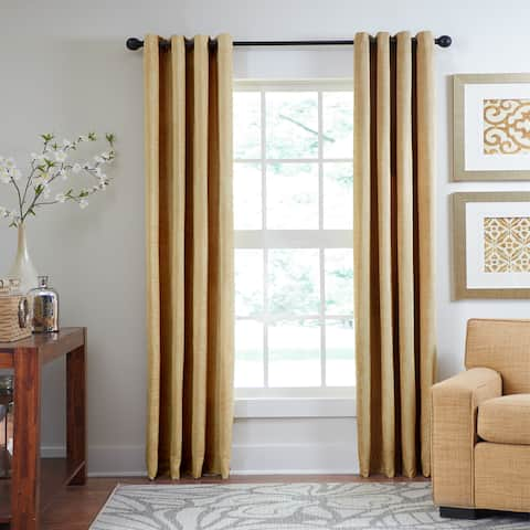 Veratex Chenille Luxe Grommet Single Curtain Panel
